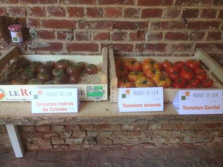 production fruits legumes