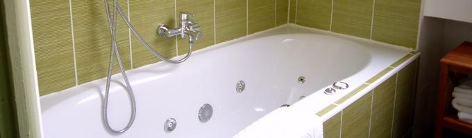 La salle de bains verte du potager