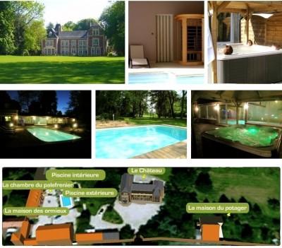 présentation du château d'Omiécourt, chambres d'hôtes de charme au château avec Spa et Piscines.